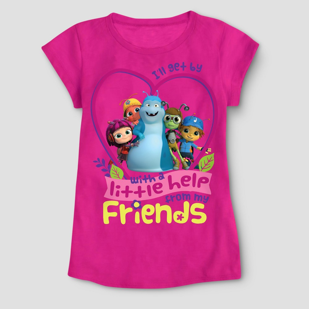 Toddler Girls Beat Bugs T-Shirt - Fuchsia 3T, Pink