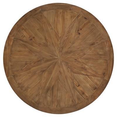 Roslyn Reclaimed Wood Quatrefoil Detail Dining Table   Antique White    Inspire Q