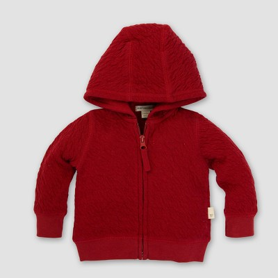 Baby Organic Quilted Bee Jacket - Burt's Bees Baby Cranberry 3-6M