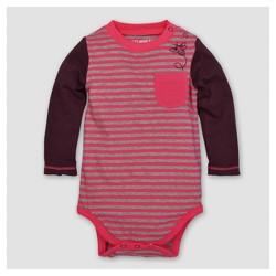 Burt's Bees Baby® Girls' Organic Striped Bee Pocked Bodysuit - Magenta