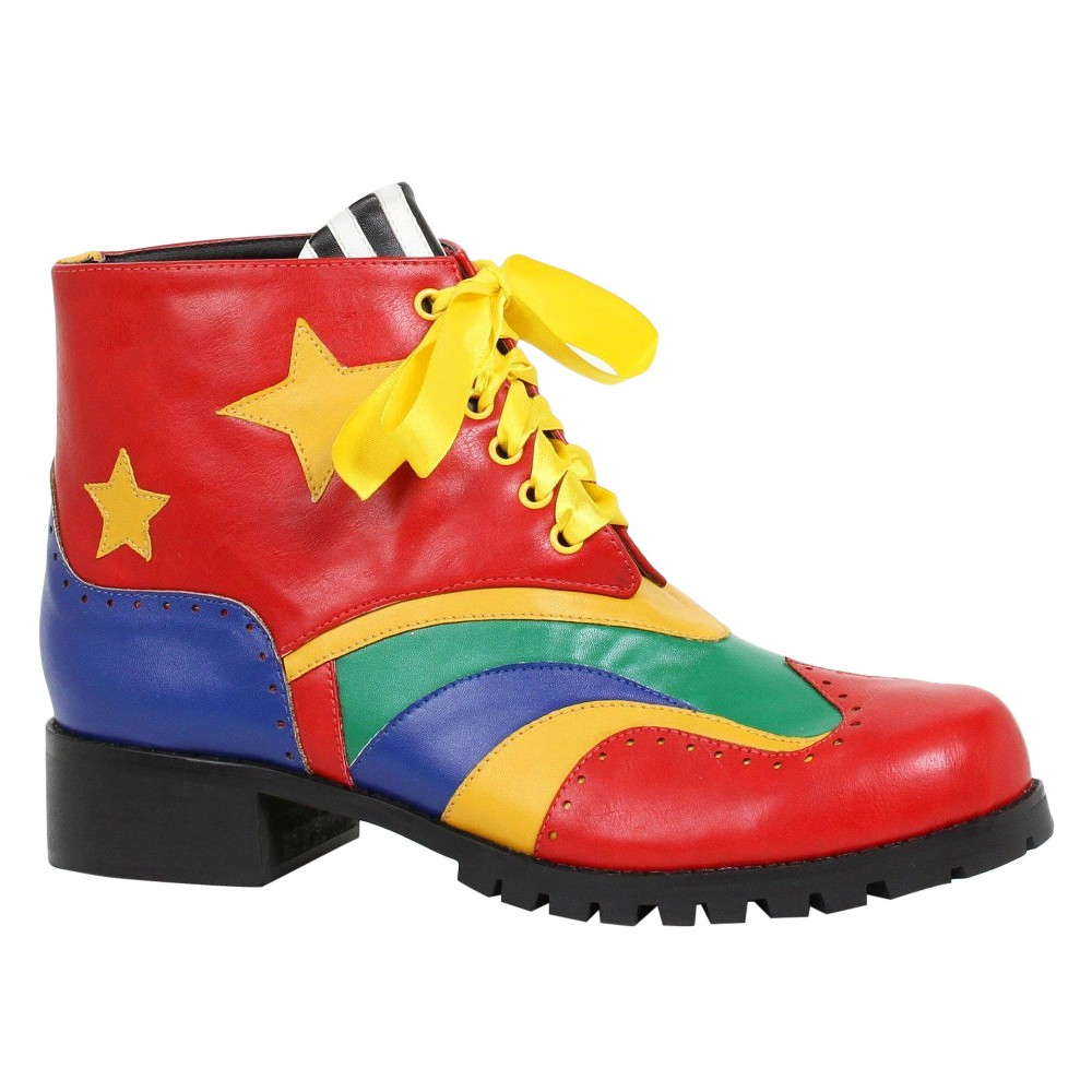 Clown Costume Shoes Large, Mens, Multicolored
