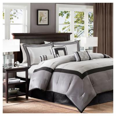Black Beverly Polyoni Comforter Set California King 7pc 7pc