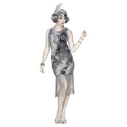 Women's Ghostly Flapper Adult Costume