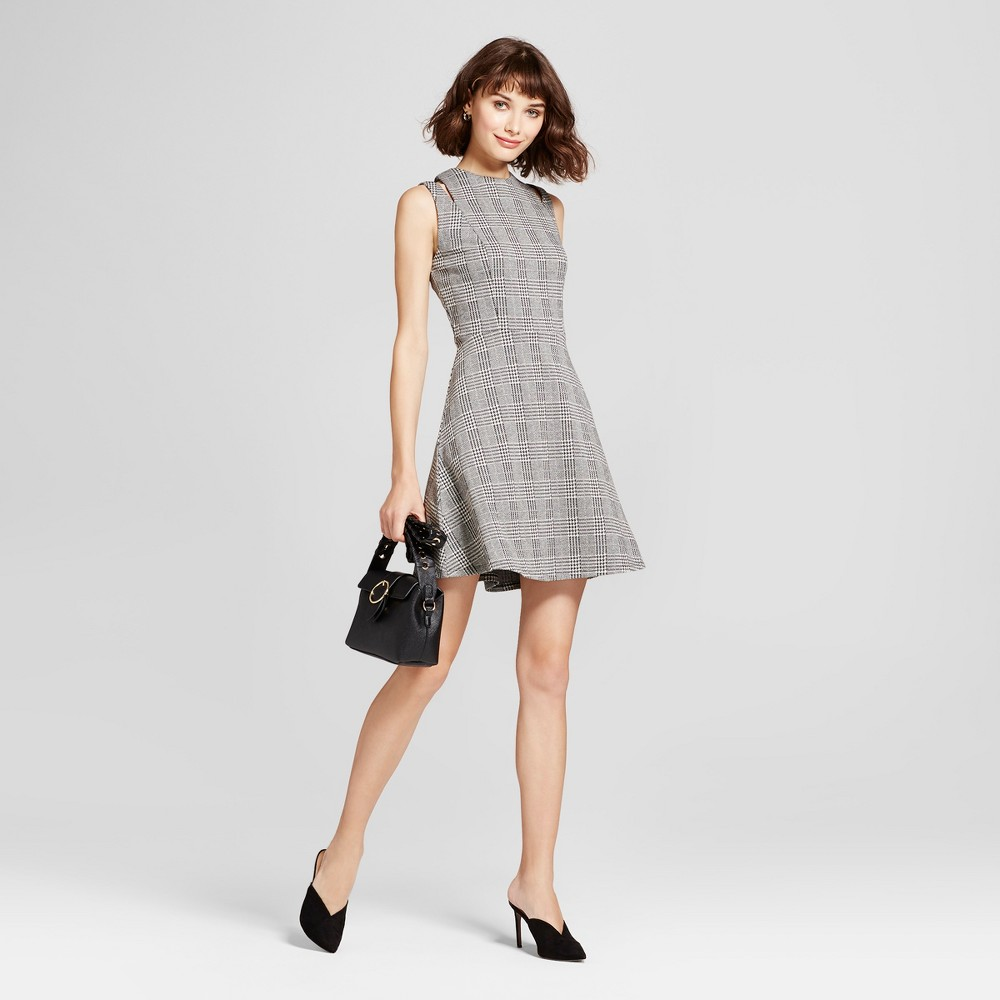 Womens Shoulder Cut Out Fit & Flare Dress - Mossimo Gray S, Black