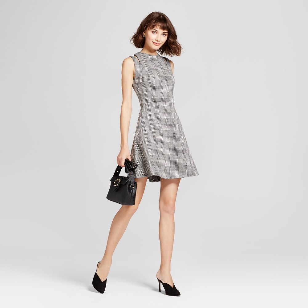 Womens Shoulder Cut Out Fit & Flare Dress - Mossimo Gray L, Black