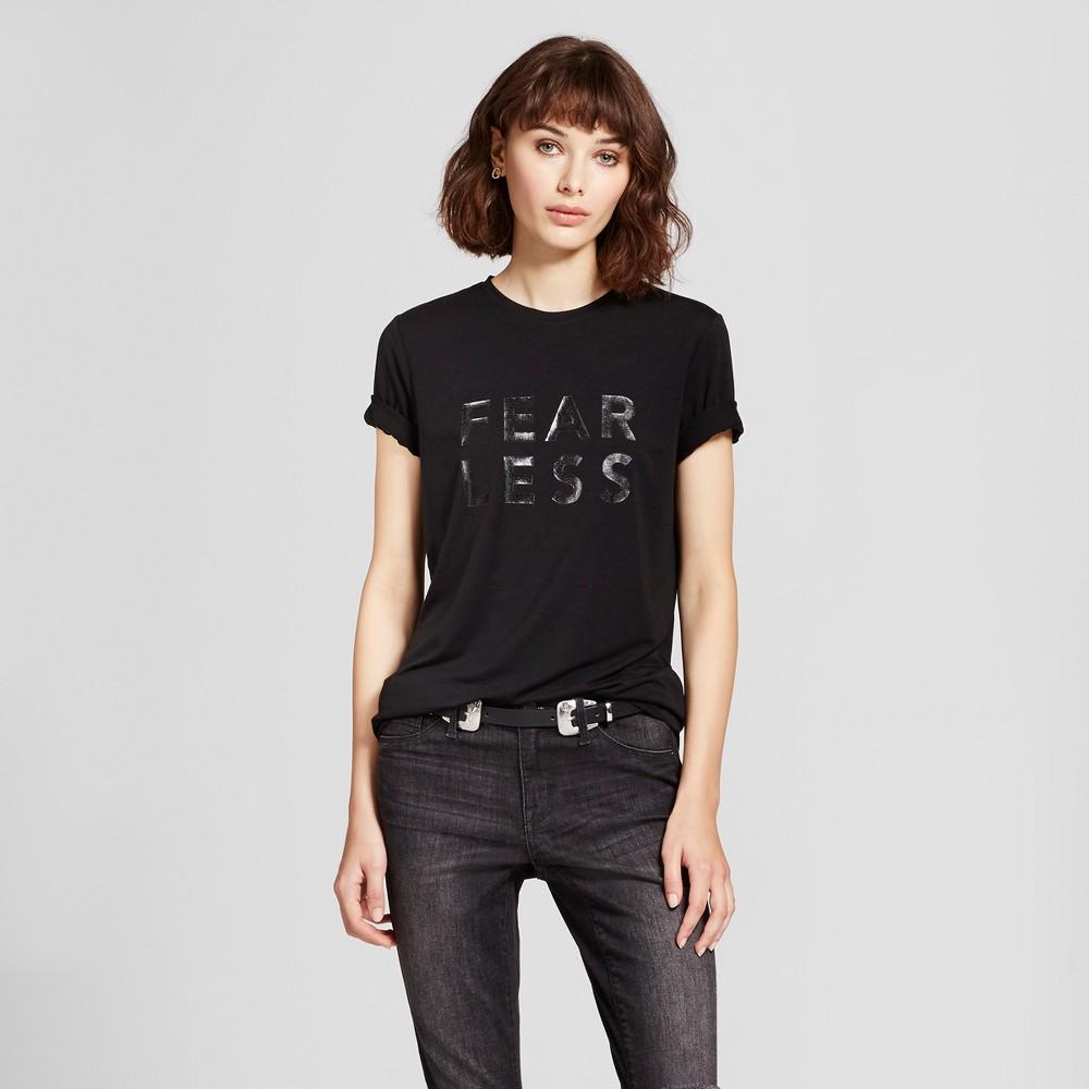 Womens Graphic T-Shirt - Mossimo Black M