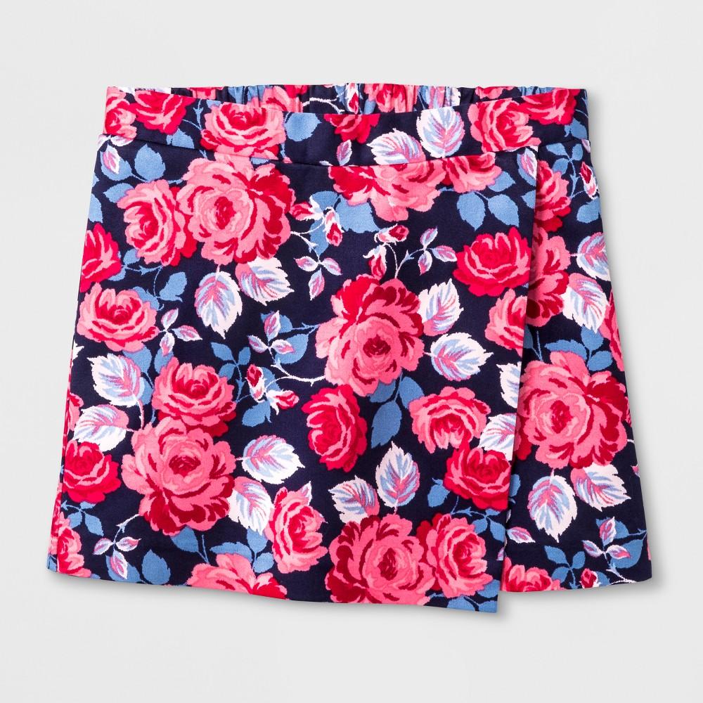 Toddler Girls Printed Sateen Skirt - Genuine Kids from OshKosh Stately Blue 2T