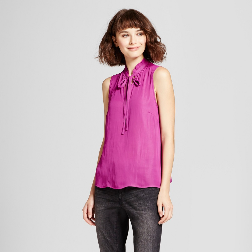 Womens Ruffle Neck Tank Top - Mossimo Pink S