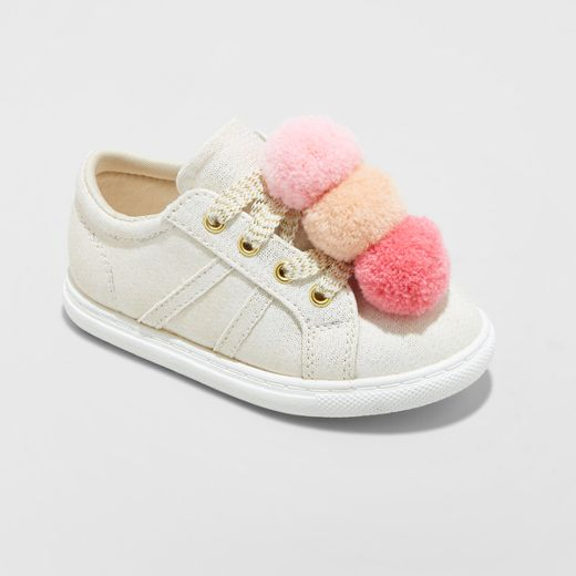 Toddler Girls' Jilly Low Top Sneakers Cat & Jack™ - Gold