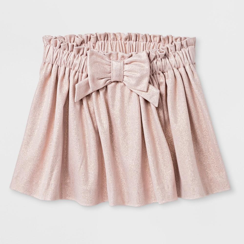 Toddler Girls Metallic Skirt - Genuine Kids from OshKosh Rose Gold 4T, Pink