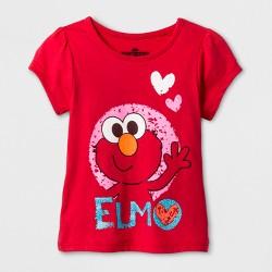 Toddler Girls' Sesame Street® Elmo T-Shirt - Red