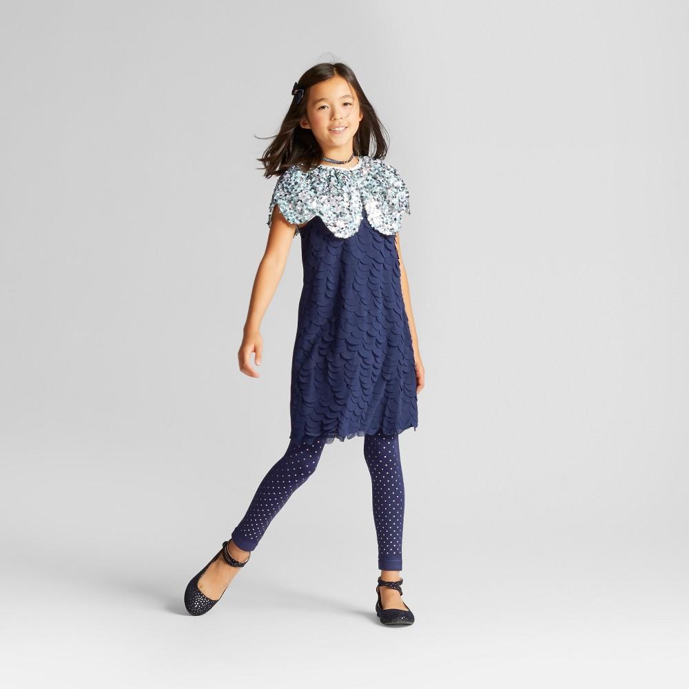 Girls Sequin Cape Vest - Cat & Jack Aqua L-XL, Size: XL, Blue