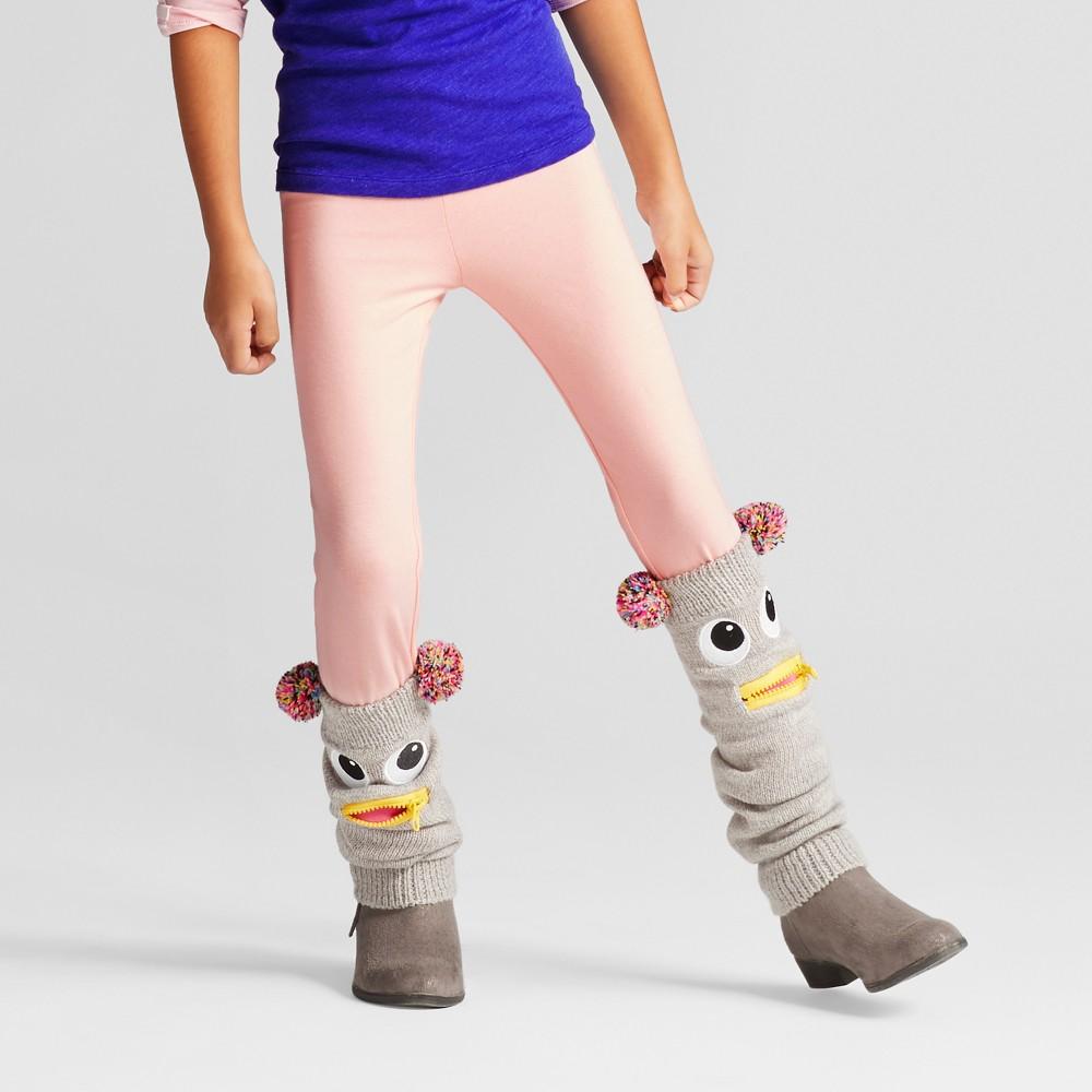 Girls Favorite Silver Side Stripe Leggings - Cat & Jack Pink L