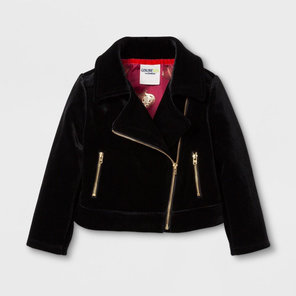 Toddler Girls Velvet Moto Jacket - Genuine Kids from OshKosh Black 4T