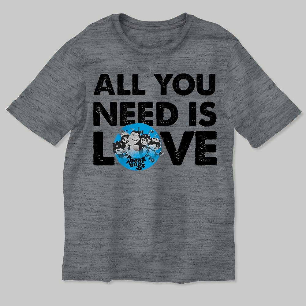T-Shirt Beat Bugs Heather Gray L, Boys
