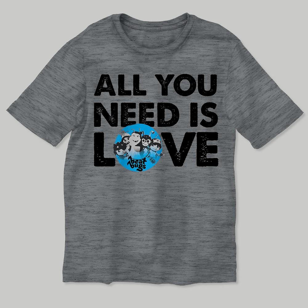 Boys Beat Bugs Short Sleeve T-Shirt - Heather Gray XL