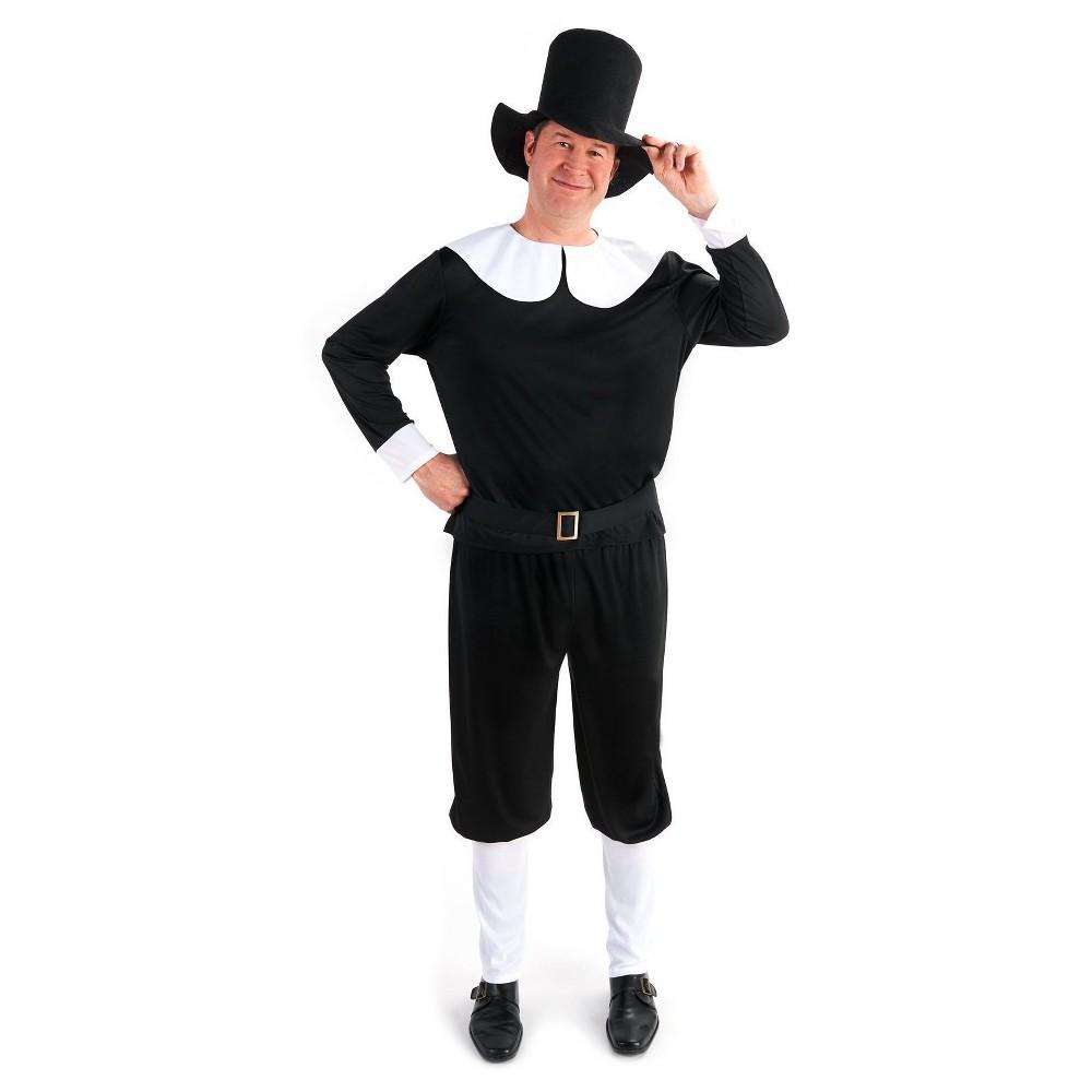 Plus Size Plymouth Pilgrim Male Adult Plus Costume 1X, Mens, Size: Xxl, Multi-Colored
