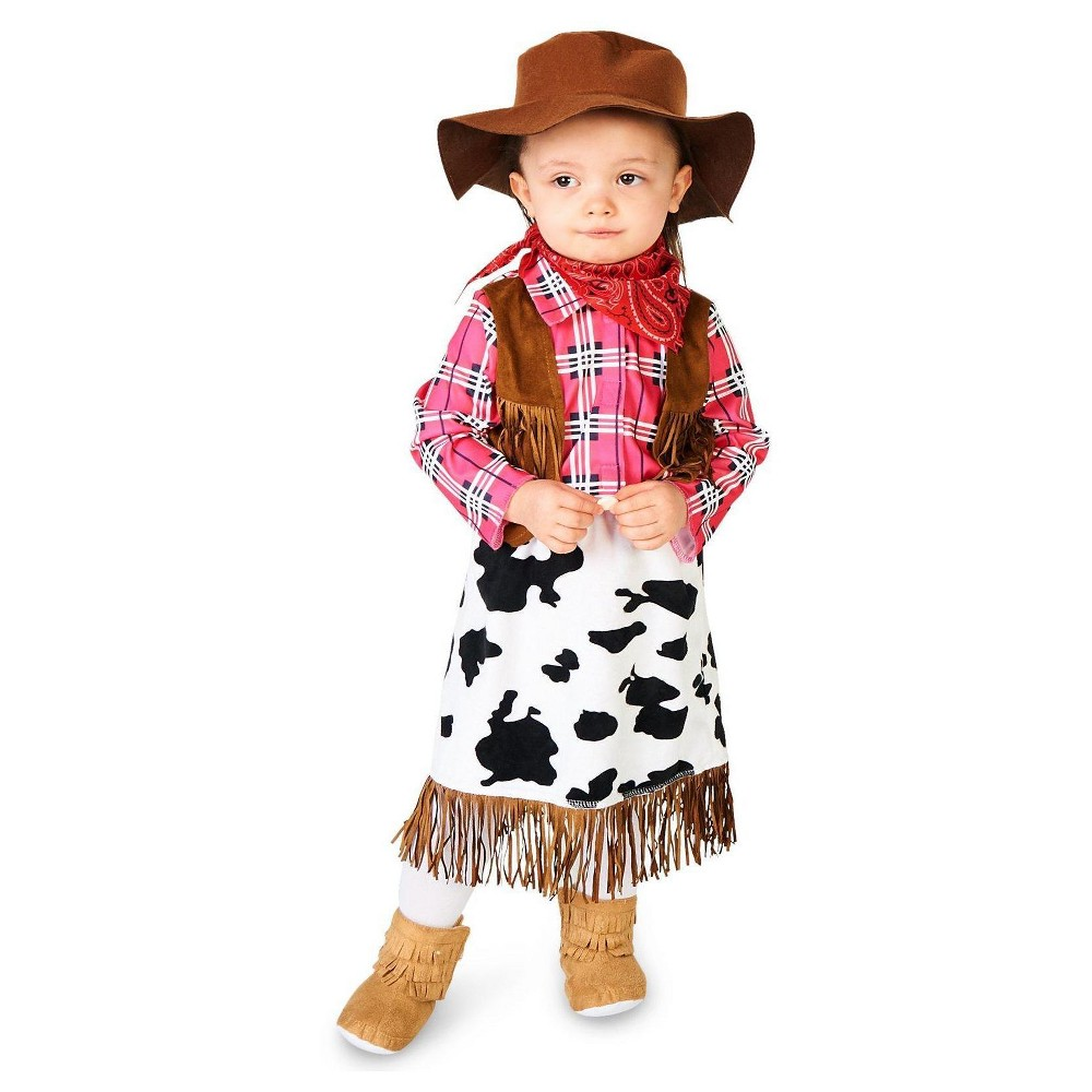 Cowgirl Princess Infant Costume 6-12 Months, Infant Girls, Size: 6-12 M, Multicolored