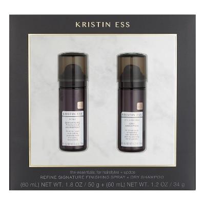 Kristin Ess Refine Signature Finishing Spray + Dry Shampoo - 1.8oz/1.2oz