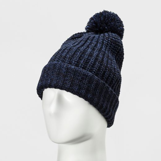 Men's Chunk Marled Beanie With Pom - Goodfellow & Co™