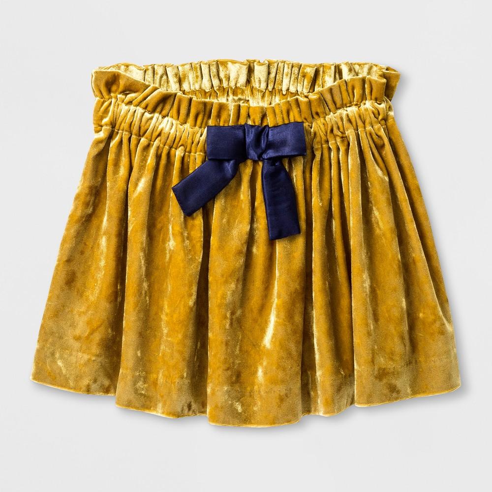 Toddler Girls Crushed Velvet A Line Skirt - Genuine Kids from OshKosh Dragon Moss 2T, Yellow