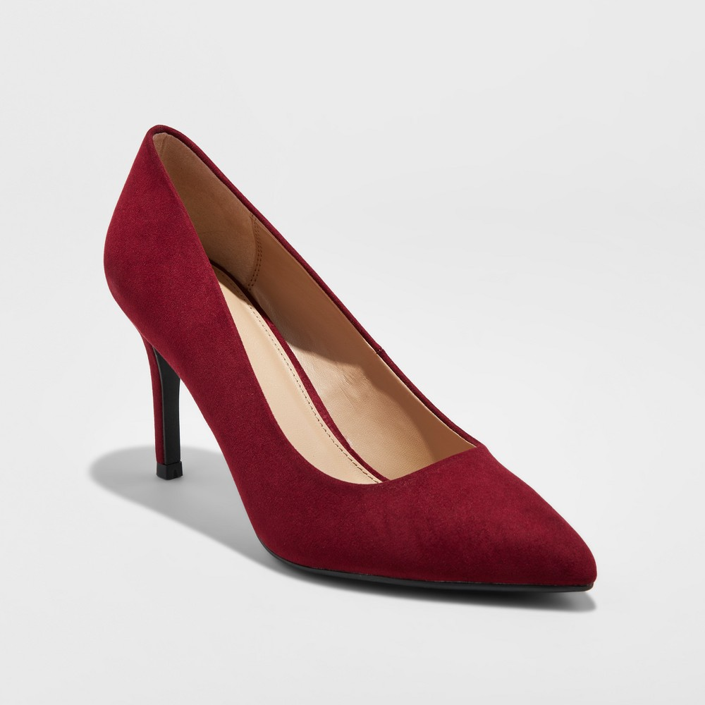 Womens Gemma Pointed Toe Heels - A New Day Burgundy 7, Red