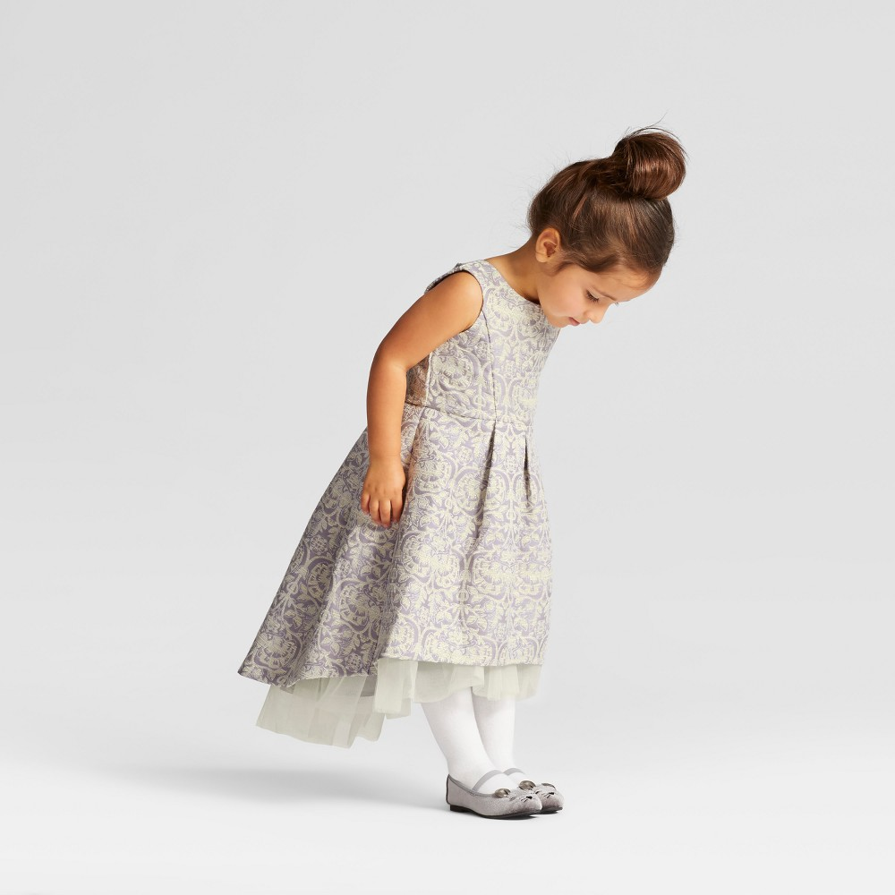 Toddler Girls Brocade A Line Dress - Genuine Kids from OshKosh Stormy Purple 2T