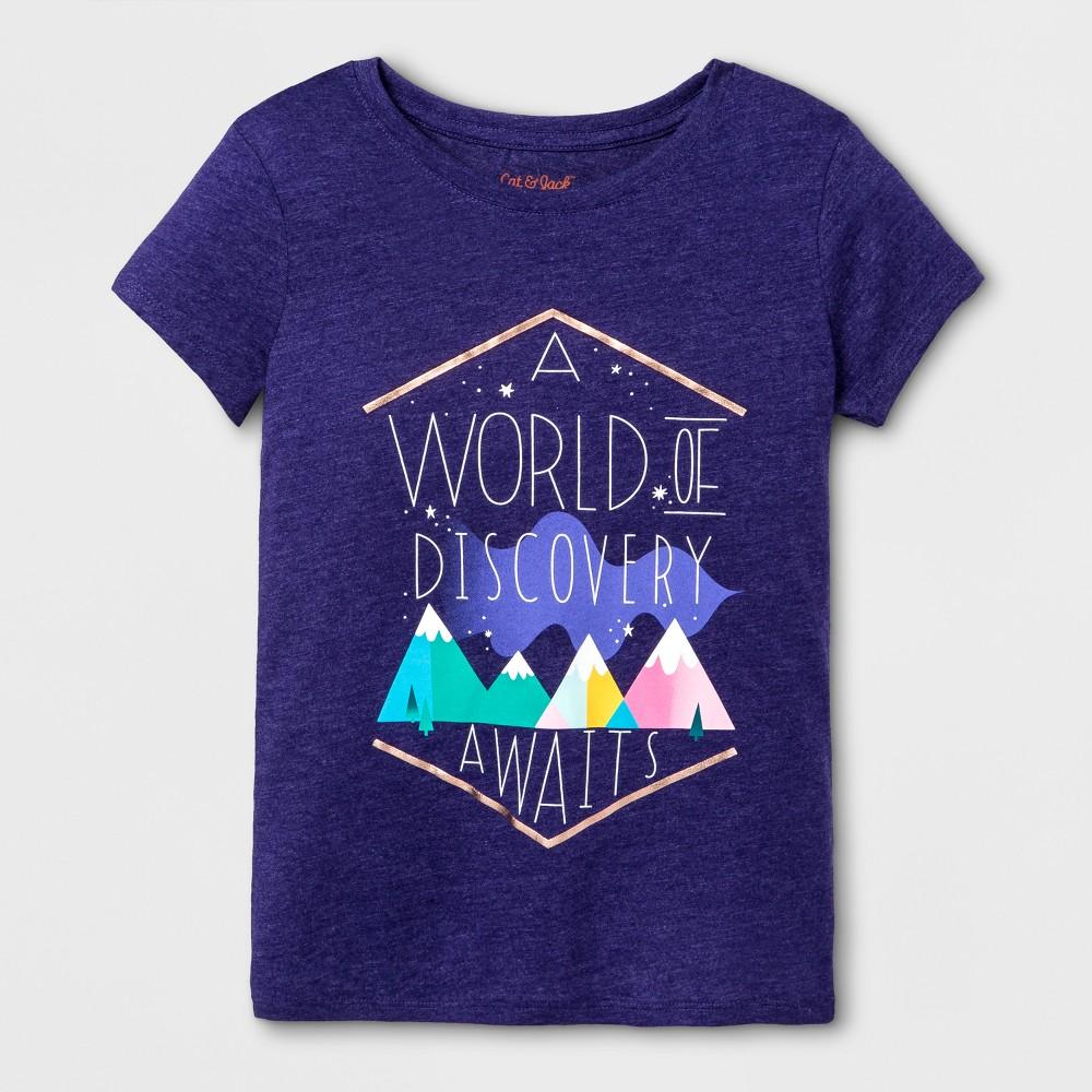 Girls Short Sleeve World of Discovery Graphic T-Shirt - Cat & Jack Purple XL