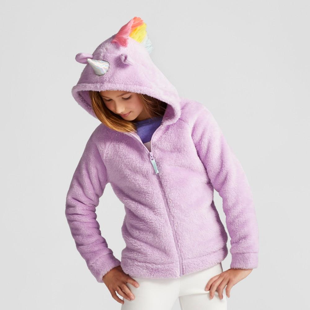 Girls Cozy Unicorn Hoodie - Cat & Jack Violet M, Purple