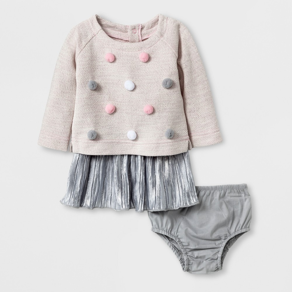 Female Top And Bottom Sets Cat & Jack Fun Pink 3-6 M, Infant Girls
