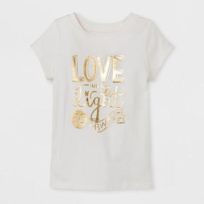 Toddler Girls' T-Shirt - Cat & Jack™ Cream 12M