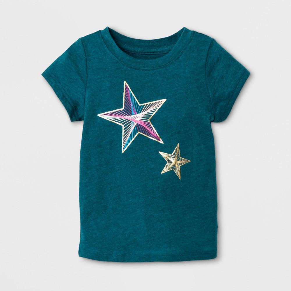 T-Shirt Fiji Teal 18 M, Toddler Girls, Blue