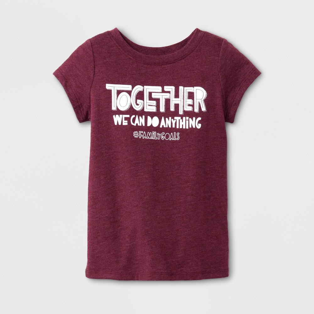 T-Shirt Burgundy 12 Months, Toddler Girls, Size: 12 M, Red