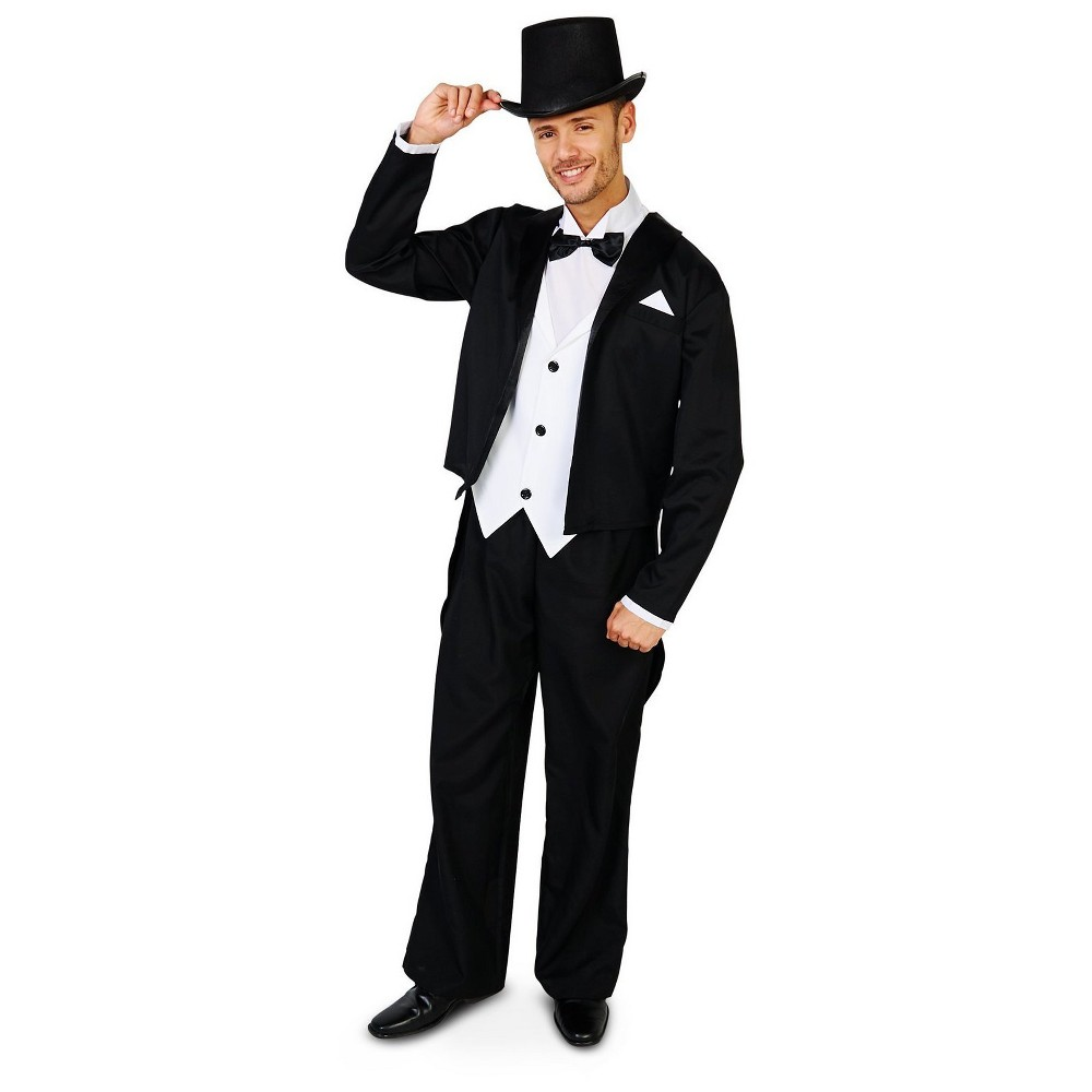 Great Gatsby 1920s Tuxedo Adult Costume X-Large, Mens, Size: XL, Multicolored