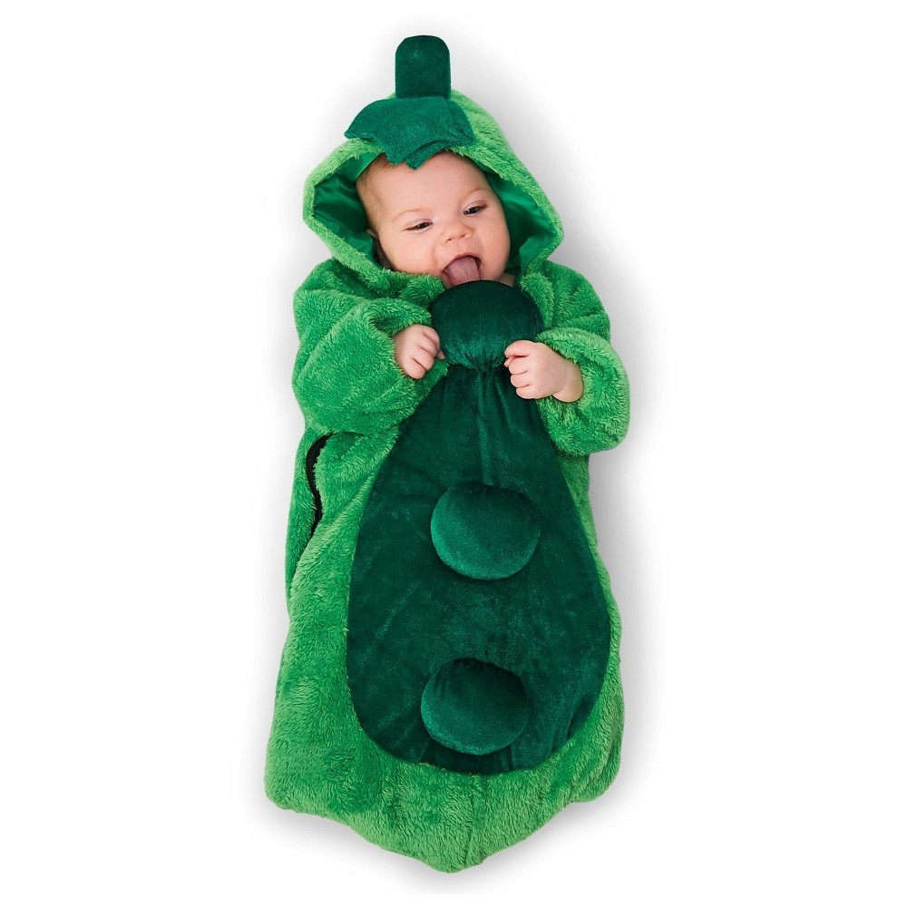 Pea in the Pod Infant Bunting Costume 0-6 Months, Infant Unisex, Multi-Colored