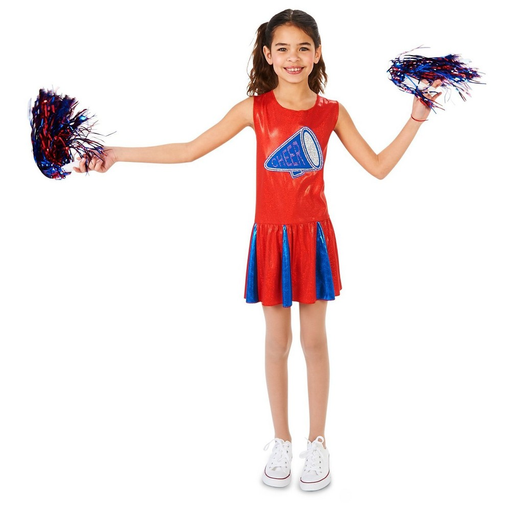 Cheer Team Childs Costume M (8-10), Girls, Multicolored