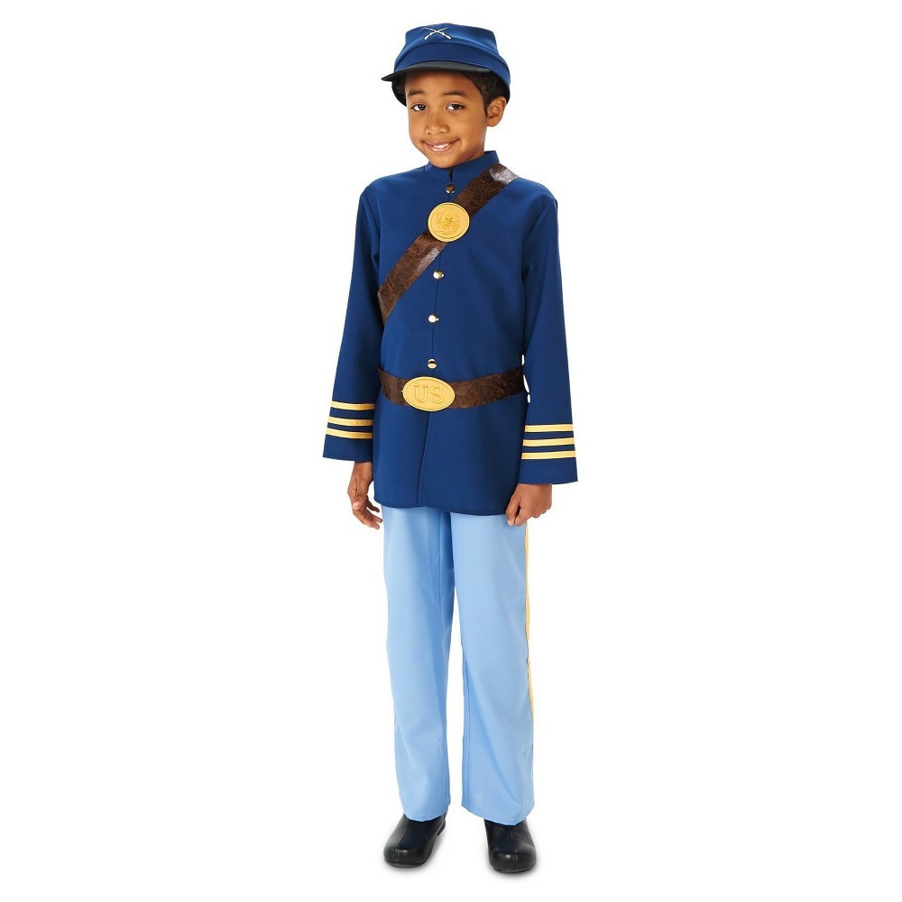 Civil War Soldier Boy Costume L (12-14), Multicolored