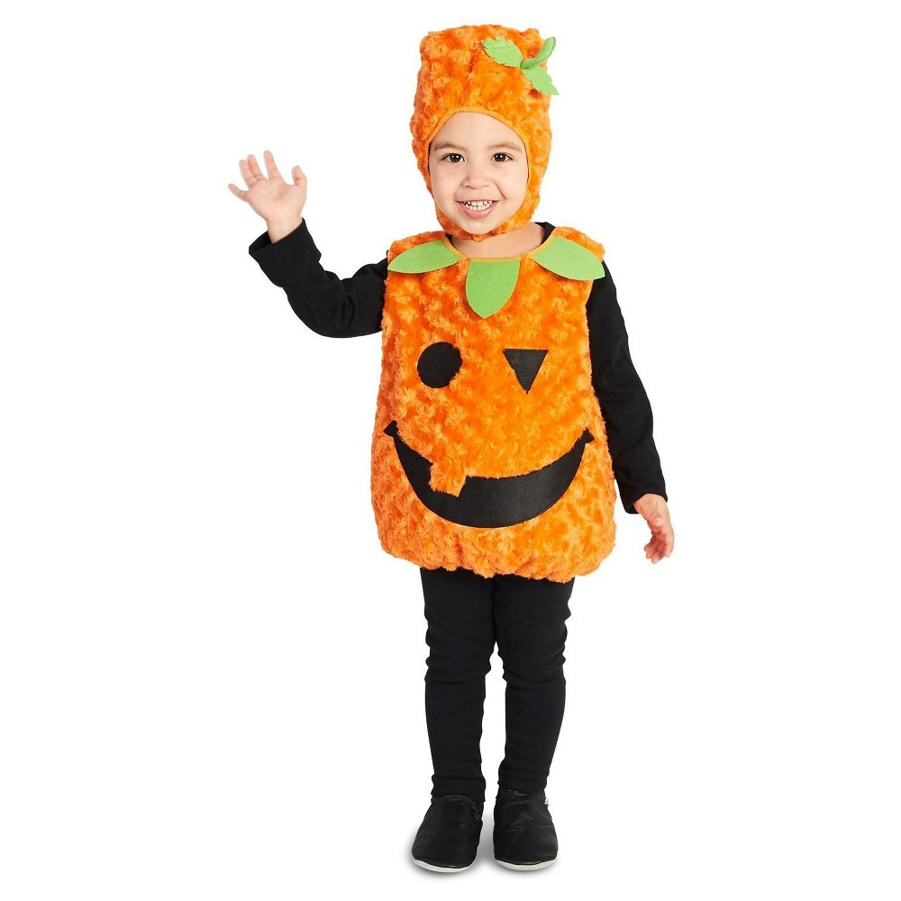 Plush Belly Pumpkin Toddler Costume 2-4T, Toddler Unisex, Size: 2T-4T, Multi-Colored