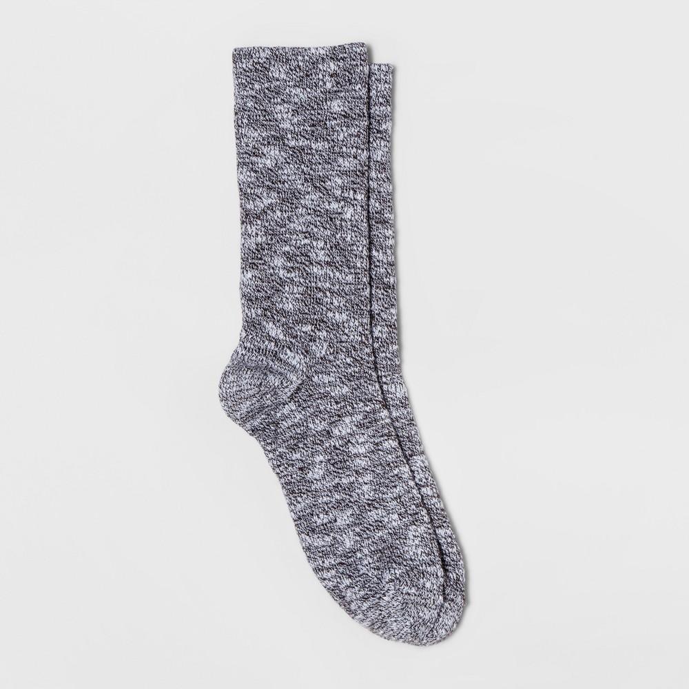 Womens Alaska Knits Marled Crew Sock - Black 4-10