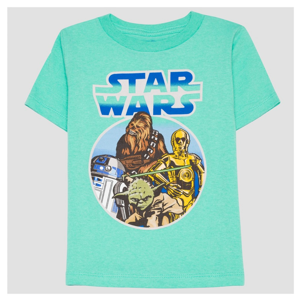 T-Shirt Star Wars Turquoise 3T, Boys, Blue