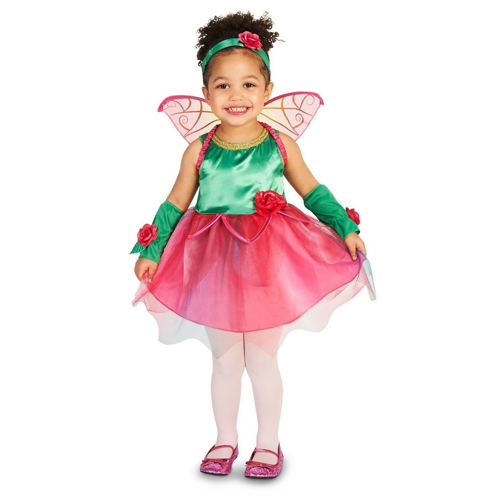 Girls Fairy Princess Toddler Costume - 2T/4T, Size: 2T-4T, Multi-Colored