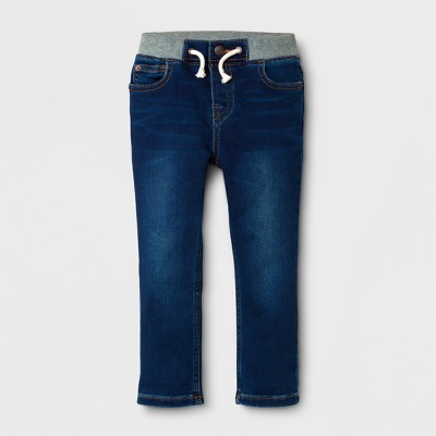 Toddler Boys' Skinny Jeans with Drawstring - Cat & Jack™ Dark Wash 2T