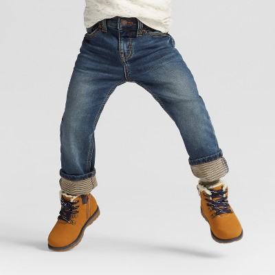 Toddler Boys' Skinny Jeans with Roll Cuff - Cat & Jack™ Vintage Dark Wash 4T