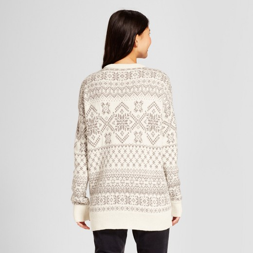 Women's Patterned Pullover Sweater - Mossimo Supply Co.™ Cream ...