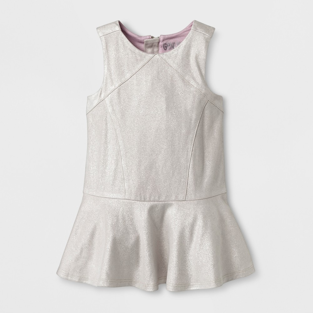 Toddler Girls Casual A Line Dress - Genuine Kids from OshKosh Silver Foil 3T, Gray