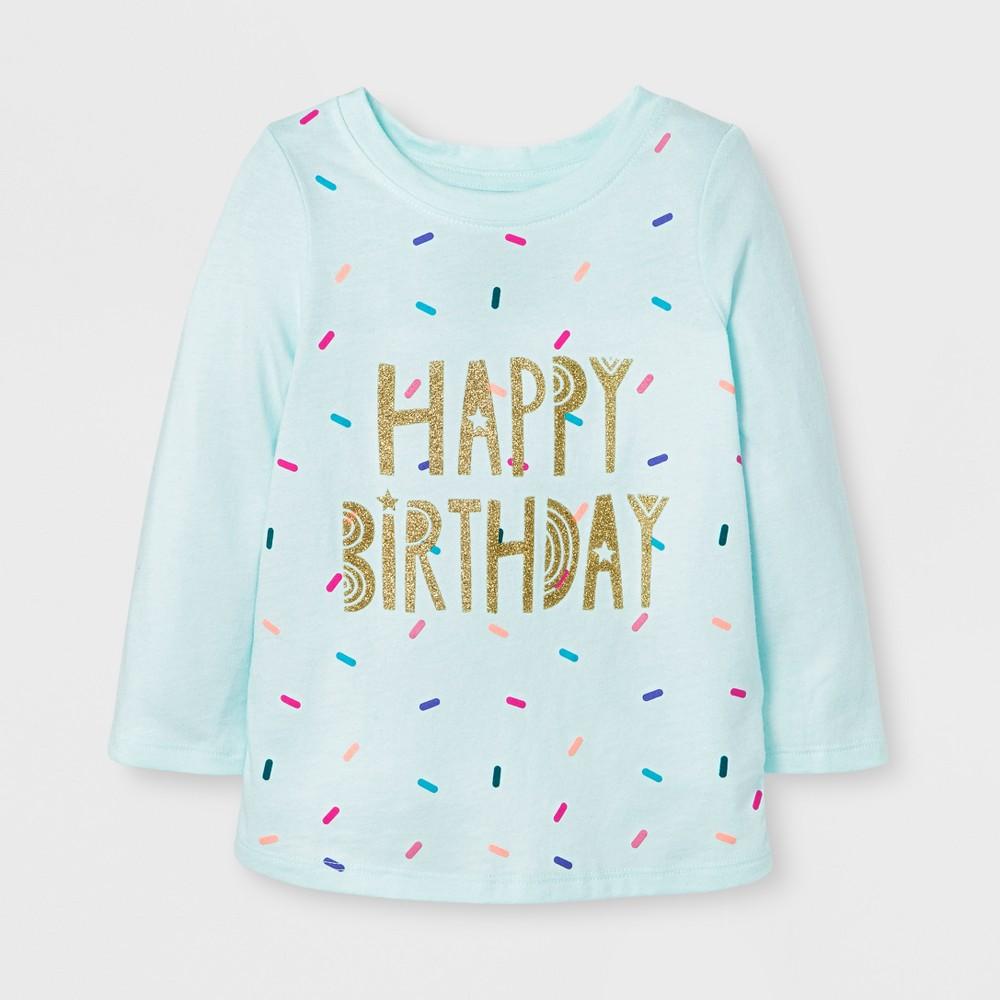 T-Shirt Aqua 2T, Toddler Girls, Blue