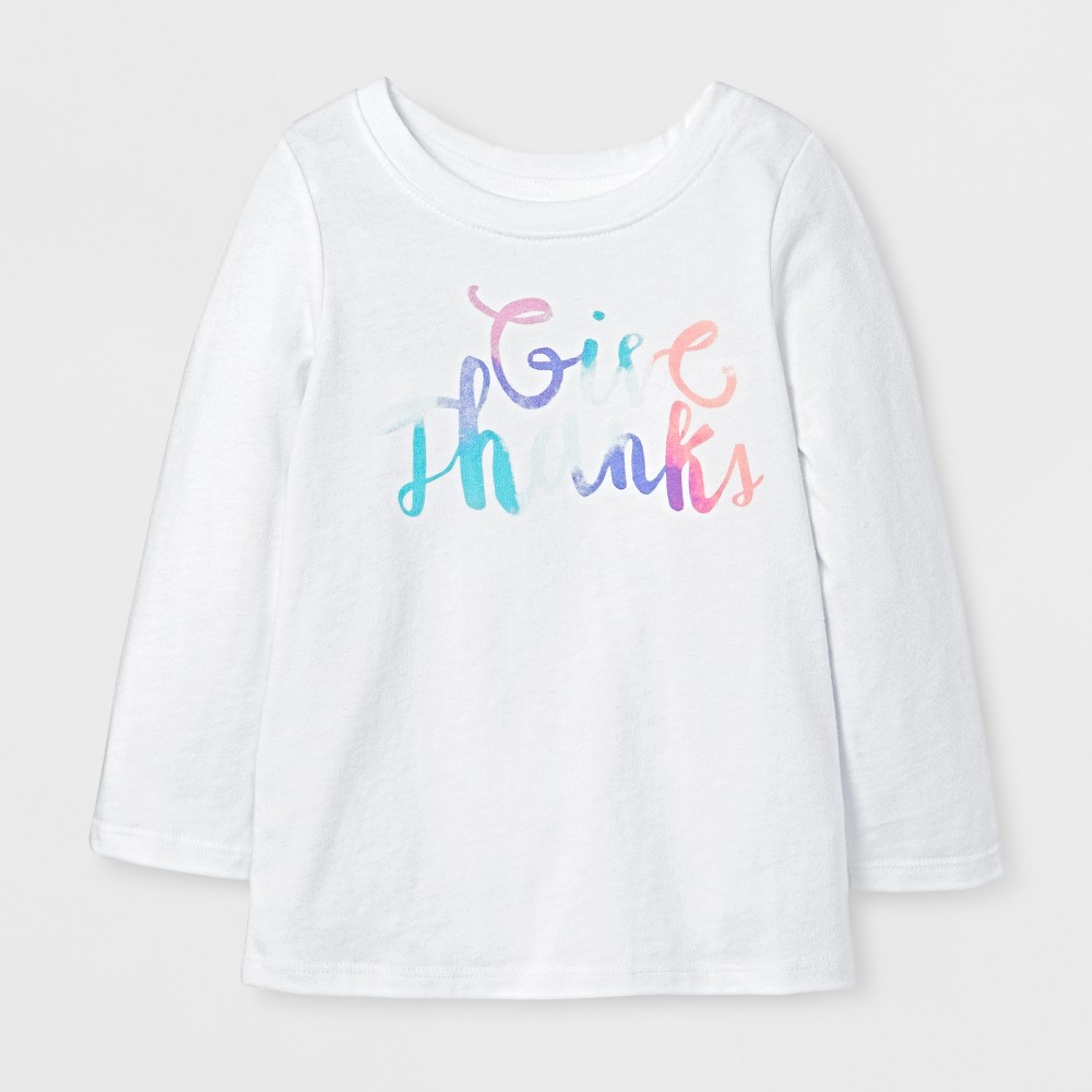 T-Shirt Eco White 3T, Toddler Girls