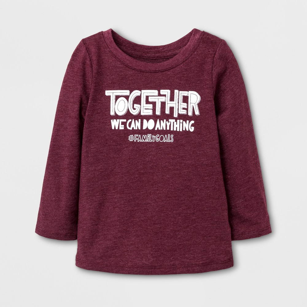 T-Shirt Burgundy 4T, Toddler Girls, Red