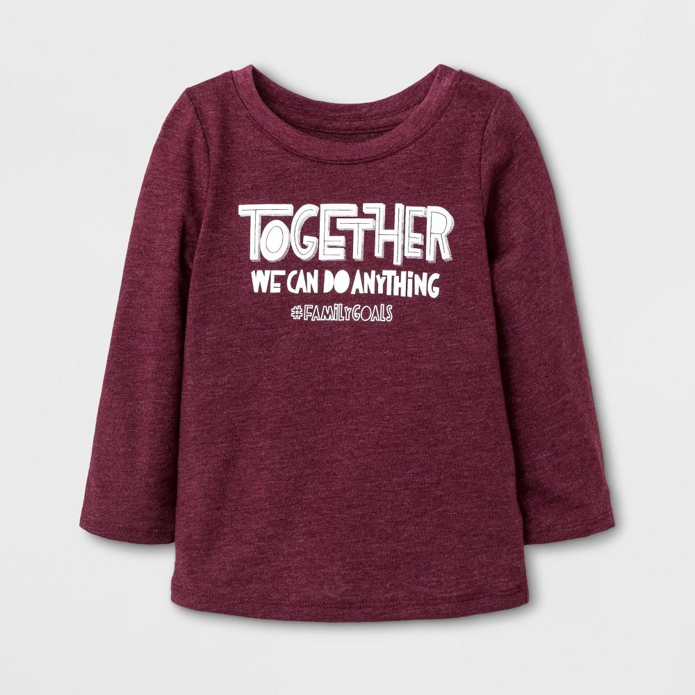 T-Shirt Burgundy 2T, Toddler Girls, Red