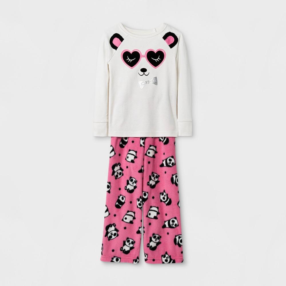 Toddler Girls' Panda Pajama Set - Cat & Jack Cream 2T, White
